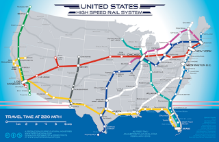 Conceptual Map of What US High Speed Rail Could Look Like