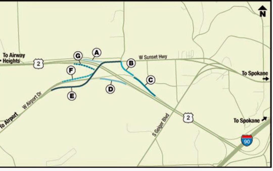 Schedule Adjusted for US 2/Spokane Airport Interchange Road Work