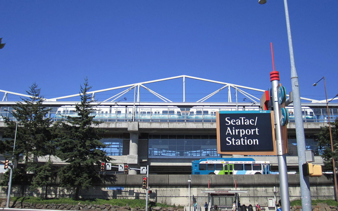 Sign for Sea-Tac Airport